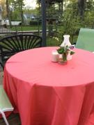 tableclothsfactory.com 90 Coral Polyester Round Tablecloth Review