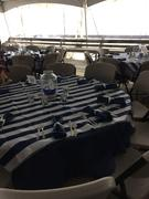tableclothsfactory.com 90 Navy Blue Polyester Round Tablecloth Review
