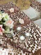 tableclothsfactory.com 90x90 Rose Gold | Blush Premium Big Payette Sequin Overlay Review