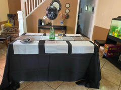 tableclothsfactory.com 90x132 Black Polyester Rectangular Tablecloth Review