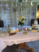 tableclothsfactory.com 90 | Champagne Satin Overlay | Seamless Square Table Overlays Review