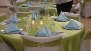 tableclothsfactory.com 90 | Apple Green Satin Overlay | Seamless Square Table Overlays Review