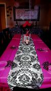 tableclothsfactory.com 72 x 72 Black Damask Flocking Tablecloth Overlay Review