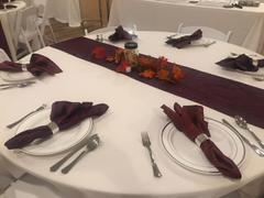 tableclothsfactory.com 5 Pack 20x20'' Burgundy Crinkle Crushed Taffeta Napkins Review