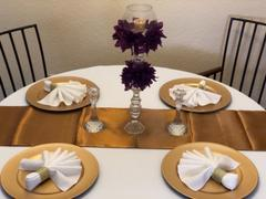 tableclothsfactory.com 12x108 Gold Satin Table Runner Review