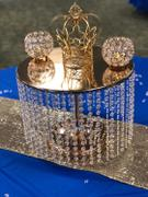 tableclothsfactory.com 12 Tall Gold Cake Stand | Cupcake Stand With 42 Acrylic Crystal Chains Review
