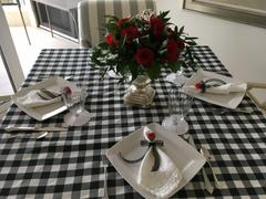 tableclothsfactory.com Buffalo Plaid Tablecloth | 90 Round | White/Black | Checkered Polyester Tablecloth Review