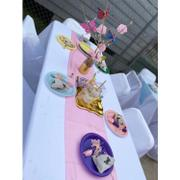 tableclothsfactory.com 12x108 Pink Satin Table Runner Review