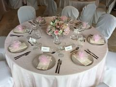 tableclothsfactory.com 90 x 90 Rose Quartz Organza Table Square Overlay Review