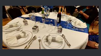 tableclothsfactory.com 12x108 Royal Blue Satin Table Runner Review