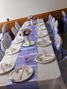 tableclothsfactory.com 12x108 Lavender Satin Table Runner Review