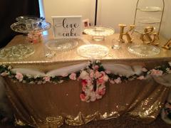 tableclothsfactory.com 90x156 Champagne Premium Sequin Rectangle Tablecloth Review