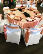 tableclothsfactory.com 72 x 72 Dusty Rose Seamless Satin Square Tablecloth Overlay Review