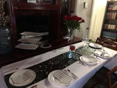 tableclothsfactory.com 12x108 Silver Satin Table Runner Review