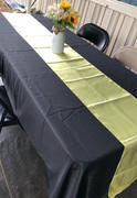 tableclothsfactory.com 12x108 Yellow Satin Table Runner Review