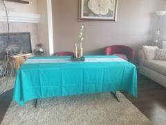 tableclothsfactory.com 60x102 Turquoise Polyester Rectangular Tablecloth Review