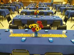 tableclothsfactory.com 60x126 Royal Blue Polyester Rectangular Tablecloth Review