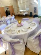 tableclothsfactory.com White Polyester Folding Round Chair Covers Review