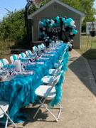 tableclothsfactory.com Turquoise Chiffon Curly Chair Sash Review