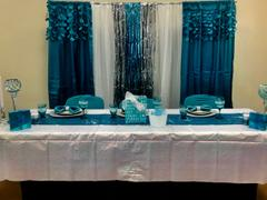 tableclothsfactory.com Turquoise Satin Rosette Stretch Banquet Spandex Chair Cover Review