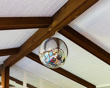tableclothsfactory.com 24 Silver Disco Mirror Ball - Large Disco Ball with Hanging Swivel Ring Review