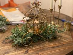 tableclothsfactory.com 11 Gold Cinderella Carriage Card Display Candle Holder Review