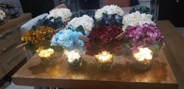 tableclothsfactory.com 5 Bushes | 25 Heads Gold Silk Artificial Hydrangeas Arrangements Flower Bushes Review