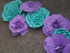 tableclothsfactory.com 4 Pack 12 Large Lavender Real Touch Artificial Foam Craft Roses Review