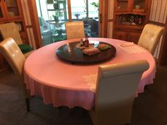 tableclothsfactory.com 90 Pink Polyester Round Tablecloth Review