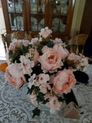 tableclothsfactory.com 5 Heads | 11 Tall Dual Tone Artificial Bush Peony Bouquet - Blush|Pink Review