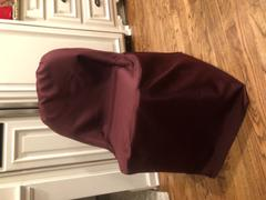 tableclothsfactory.com Burgundy Polyester Folding Round Chair Covers Review