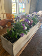 tableclothsfactory.com 24x6 Natural Rectangular Wood Planter Box Set With Removable Plastic Liners Review