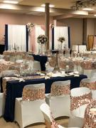 tableclothsfactory.com 5 Pack | Big Payette Sequin Round Chair Sashes - Blush | Rose Gold Review
