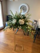 tableclothsfactory.com 2 Pack | 40 Matte Gold Wedding Flower Stand | Metal Vase Column Stand | Geometric Centerpiece Vase Review