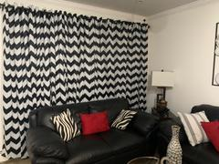 tableclothsfactory.com Chevron Blackout Curtains | Pack of 2 | White and Black Chevron Curtains | 52 x 84 Inch Grommet Curtains | Blackout Soundproof Curtains - Clearance SALE Review