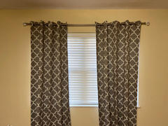 tableclothsfactory.com Trellis Curtain Panels | Pack of 2 | White & Charcoal Gray Blackout Curtains | 52 x 108 Inch Grommet Curtains | Noise Cancelling Curtains - Clearance SALE Review
