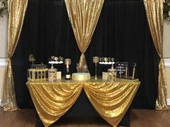 tableclothsfactory.com 20FT x 10FT Black Metallic Shiny Spandex Glittering Backdrop Review
