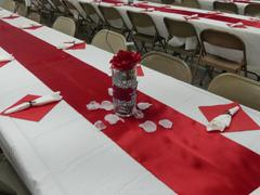 tableclothsfactory.com 12x108 Wine Satin Table Runner Review