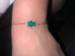 Mosaik Juwelen Sterling Silber Malachit Hamsa Armband Bewertung