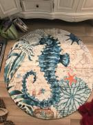 DecorZee Round Mediterranean Sea Life Floor Mat Rug Review