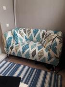 DecorZee Brown / Blue Diamond Pattern Sofa Couch Cover Review