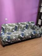 DecorZee Green / Blue Palm Leaf Pattern Sofa Couch Cover Review