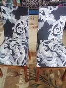 DecorZee Gray / White Floral Damask Pattern Dining Chair Cover Review
