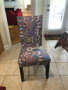 DecorZee Multi-Color Bohemian Pattern Dining Chair Cover Review