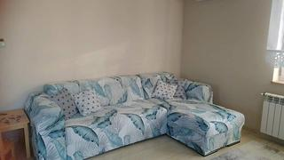 DecorZee Blue / White Palm Leaf Pattern Sofa Couch Cover Review