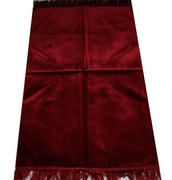 Modefa Solid Simple Velvet Islamic Prayer Rug - Red Review