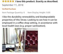I LIVE ECO™ Natural Bamboo Straws: Assembled in Canada, Great for Parties Review