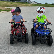 Rosso Motors Kids Toys eQuad X Navy Blue 800W Utility ATV 4 Wheeler for Kids Review