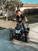 Rosso Motors Kids Toys eQuad S Blue 500W ATV 4 Wheeler for Kids Review