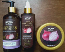 Buywow WOW Skin Science Onion Black Seed Hair Oil - Controls Hair Fall - No Mineral Oil, Silicones & Synthetic Fragrance - 200 ml Review